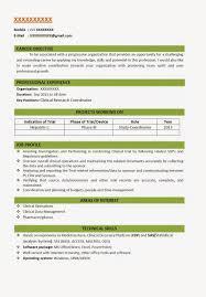 Resume Format For Freshers Pharma Job Resume Templates Format For Bds Freshers Sample Fresher Impressive 1