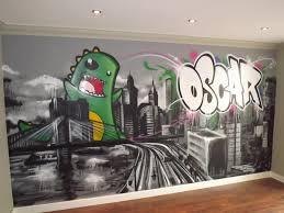 Children Teen Kids Bedroom Graffiti Mural Hand Painted