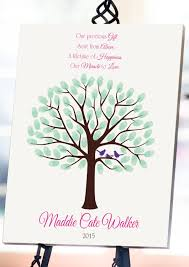 Baby Shower Fingerprint Tree 8x10Baby Shower Guest BookFingerprint Baby Shower Tree