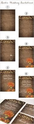 Cheap Rustic Wooden String Light Mason Jar Fall Wedding Invites Ewi