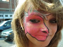 create a face painting in under 5 minutes by applying makeup