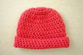 Easy Crochet Baby Hat Patterns For Beginners Mesmerizing Newborn Crochet Hat AllFreeCrochet
