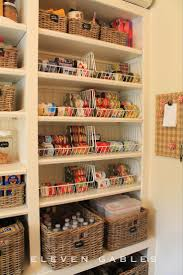 shallow pantry shelves with wire baskets for multiples of the same item  Pantry  OrganizationPantry IdeasKitchen ...
