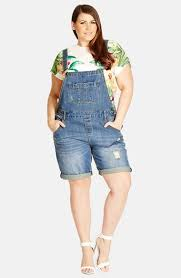plus size overalls shorts city chic short distressed denim overalls mid denim plus size