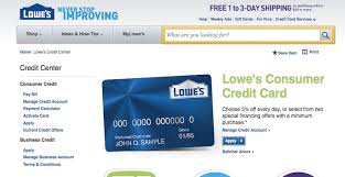 Lowes Commercial Credit Card Application Pay Lowes Credit Card Credit Card Gift Card