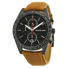 michael kors men women watches on the watches men co on michael kors accelerator chronograph black dial tan leather men s watch mk8385 the watches men