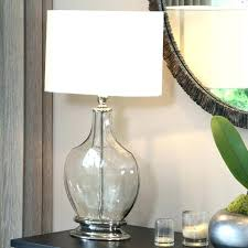 glass base table lamps good glass base lamps or home tall clear glass table lamp base