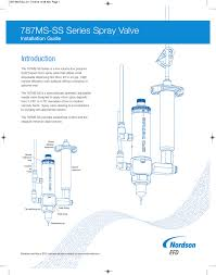 787ms Ss Series Spray Valve Introduction Installation Guide