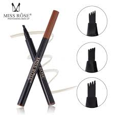 Details About Miss Rose 4 Heads Fork Fine Liquid Eyebrow Pencil Tattoo Eyebrow Pen B3o1