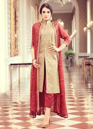 Contrast Dress Design 2018 Latest Pakistani Indian Straight Cut Salwar Kameez 2018 19