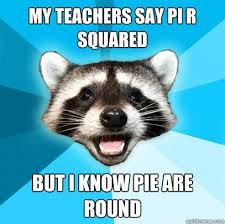 Bathroom Puns Magnificent MY TEACHERS SAY PI R SQUARED BUT I KNOW PIE ARE ROUND Lame Pun
