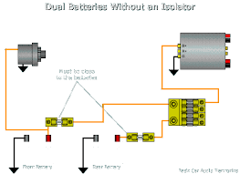 dual battery wiring diagram car audio schematics and wiring diagrams installing a second battery ecoustics