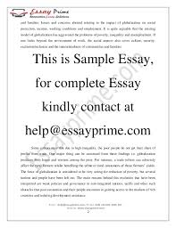 globalization and justice essay sample  3 and