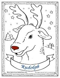 Small Picture Coloring Pages Santa And Reindeer Coloring Pages Hellokids