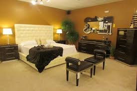 Acrylic Bedroom Shown With Upholstered Bed With Swarovski Crystal Accents