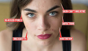 do you wear makeup to the gym dermatologist dr natasha cook revealed to femail that