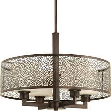 progress lighting mingle antique bronze single transitional cylinder pendant light