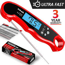 Digital Instant Read Meat Thermometer - Waterproof ... - Amazon.com