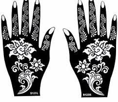 Flower Mehndi Henna Stencils Hands Simple Design Sheets Kit