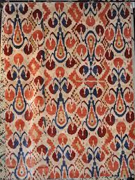 fine silk ikat rug for modern floor bedroom