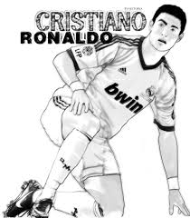 Cristiano Ronaldo Coloring Pages At Getdrawingscom Free For