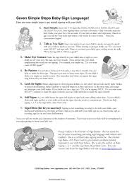How To Make A Sign Chart Baby Sign Language Chart 2 Pdf Format E Database Org