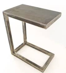 catchy all welded metal miller c table perfect for a laptop or drinks c