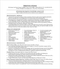 Business Systems Analyst Resume Template Custom Business System Analyst Resume Template Business Analyst Resume