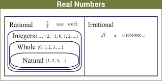 Real Numbers Chart Worksheet Real Numbers Definition Properties Set Of Real Numerals