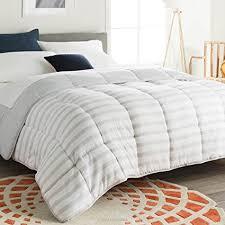 quilted comforters queen. Brilliant Queen Linenspa Reversible Striped Down Alternative Quilted Comforter With Corner  Duvet Tabs  Queen Size With Comforters