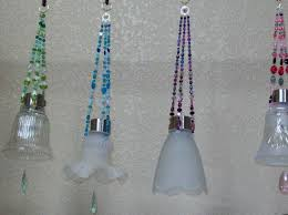 recycled glass lighting. Hanging Solar Lights Made From Recycled Glass Light Shades With A Crystal Them. Lighting