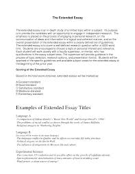 extended essay example essay titles examples definition essay  essay titles examples computer information systems associate degree resume s definition