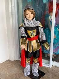 Combo Đồ Hóa Trang Halloween Cho Bé Trai - Chiến Binh Hoàng Gia Dũng Cảm +  Khiên Và Kiếm | Brave Warrior - HMB0191