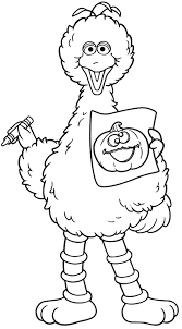 Small Picture Halloween Coloring Pages Halloween Big Bird from Sesame Street