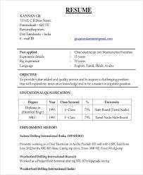Electrician Resume Template Mytv Pw