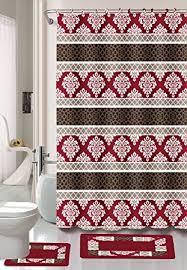 burgundy shower curtain sets. burgundy/black/red jane 15-piece bathroom set: 2-rugs/ burgundy shower curtain sets