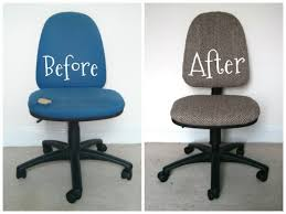 office chair reupholstery. Modren Reupholstery Diy Desk Chair Decor Office Reupholstery Or On Work Space Reveal And I