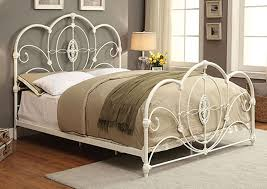 Brothers Fine Furniture Jania White Metal California King Panel Bed