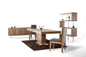 winsome adaline walnut extendable dining table and 6 chairs durham modern walnut extendable modern dining room