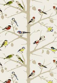 Sarah's House Powder Room {Bird Wallpaper Source