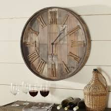 Country Kitchen Wall Clocks Rustic Wall Clocks Youll Love Wayfair