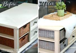 wicker basket coffee table how to paint baskets with chalk an easy black storage