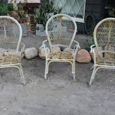 R 1 Vintage Bent Bamboo Rattan Chairs  Patio Furniture