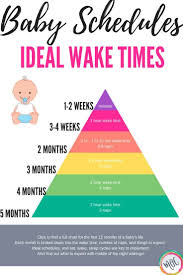 Ideal Baby Awake Times Free Printable Chart Set Your Baby