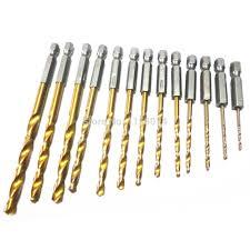 5mm drill bit size. 1.5-6.5mm titanium coated hex shank drill bit drilling metal wood plastic aluminum plate 5mm size i
