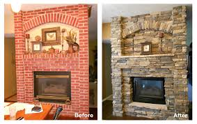 air stone fireplace before and after fireplace design ideas