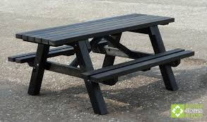 the rastrick wheelchair accessible picnic table made from recycled plastic