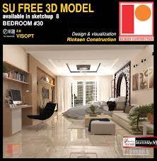Model Bedroom Interior Design Sketchup Texture Sketchup Model Bedroom