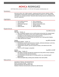 cashier resume example emphasis Customer Service Cashier Resume Examples