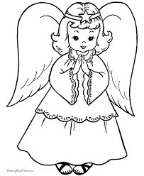 Small Picture Free Printable Christmas Coloring Sheets Christmas Angel